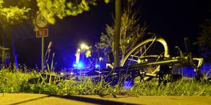 Rower na którym jechała kobieta upadł kilka metrów dalej. Foto: Wojciech Basałygo