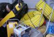 Strażnicy graniczni w fiacie ducato znaleźli narzędzia budowlane renomowanych firm. Foto: Straż Graniczna