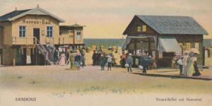 Męskie łazienki i bufet na chorzelińskiej plaży.