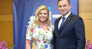 Prezydent Andrzej Duda i prezydent Chorwacji Kolinda Grabar-Kitarović otworzyli forum państw Trójmorza (fot. Andrzej Hrechorowicz / KPRP)