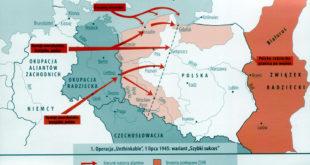 Wariat pierwszy działań wojennych- po dojściu do linii Wisły, Alianci podejmują z Sowietami negocjacje.