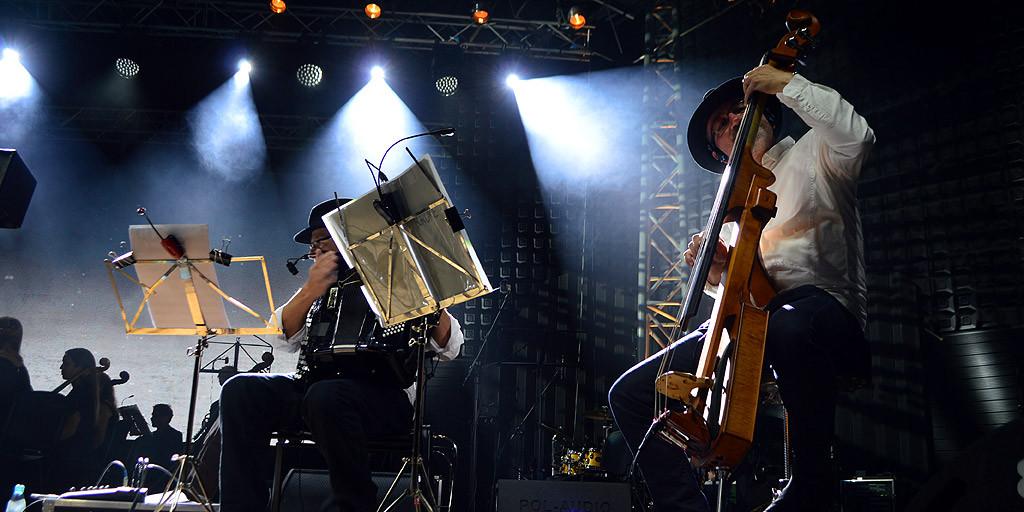"""Zespół klezmerski """"Kroke"""" w twórczości inspiruje się muzyką etniczną. Foto: Wojciech Basałygo"""