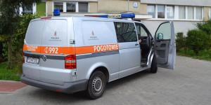 Gazownicy sprawdzili, czy nie doszło do rozszczelnienia instalacji gazowej. Foto: Wojciech Basałygo