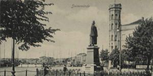 Z okien Trzech Koron podziwiać można było piękny krajobraz wyspy wolin, ale również... Pomnik Cesarza Wilhelma I