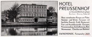 """Jedna z ulotek reklamująca hotel """"Preussenhof"""". Każdy skusiłby się na takie luksusy!"""
