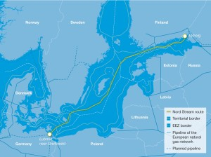 Nord Stream is a natural gas pipeline that will link Russia and the European Union via the Baltic Sea. The pipeline, which has a total length of around 1,220 kilometres, is to be launched in 2011 with initial annual capacity of 27.5 bcm. Capacity will double to 55 bcm per year in 2012, when the pipeline's second line becomes operational.