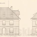 Jeden z budynków biurowych- zachowanych do dziś! Plan z 1898 roku.