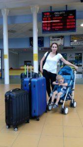 Mama chłopca Małgorzata Wojtkowiak poleciała z Tomkiem w sobotę.