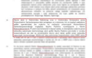 Opinia prawna powstała w szczecińskim biurze. Dokument datowany jest na wrzesień br.